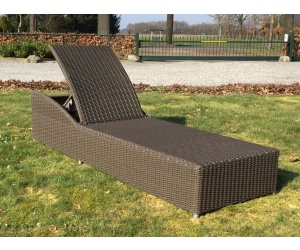 Poollounger Sun ligbed kubu brown