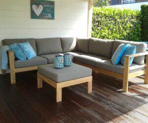 Ibiza teak corner lounge-medium