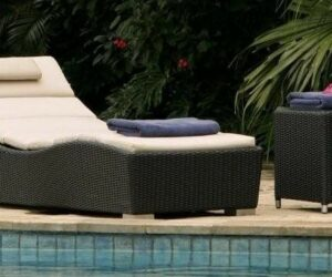 Poollounger wave ligbed