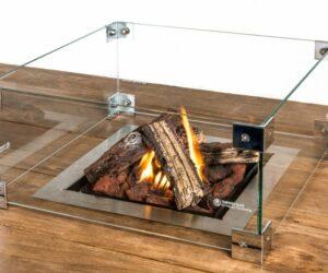 Glazen ombouw Cocoon inbouwbrander vierkant