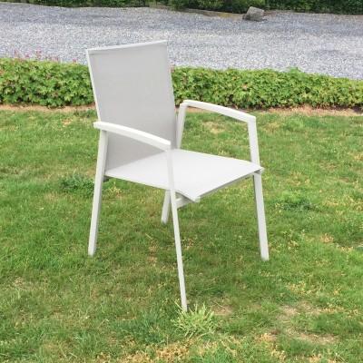 Capri taupe stapelstoel