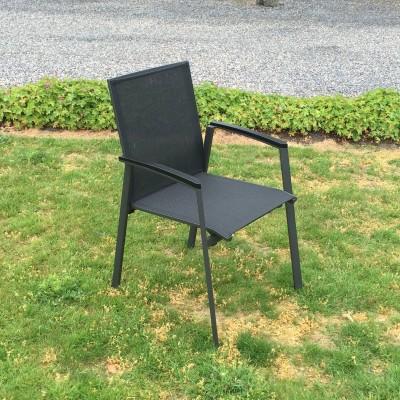 Capri zwart stapelstoel