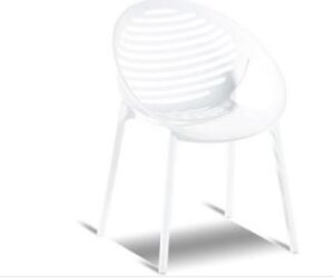 Romeo Stacking Chair White
