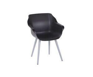 Sophie studio armchair black misty grey
