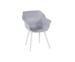 Sophie studio armchair white misty grey