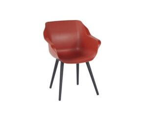 sophie studio armchair red black