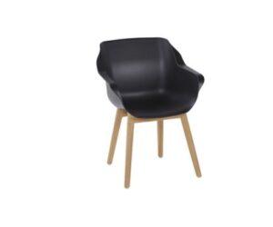 sophie studio teak armchair black
