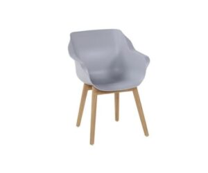 sophie studio teak armchair misty grey